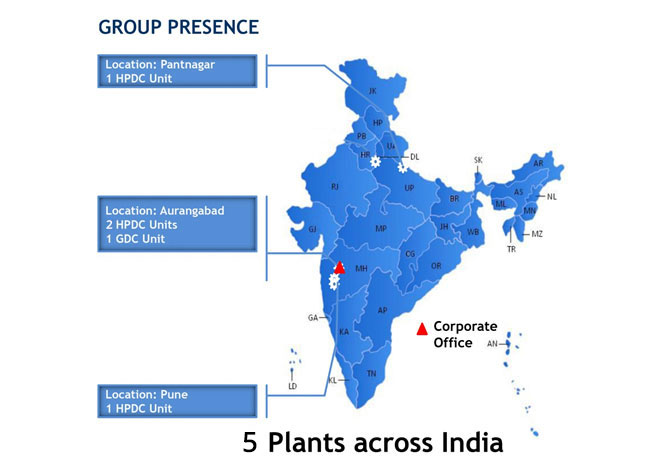 MANUFACTURING LOCATIONS IN INDIA